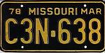 1978 Missouri license plate C3N-638.jpg