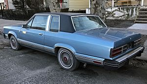 Ford Granada (North America) - A 1982 two-door sedan (rear view)