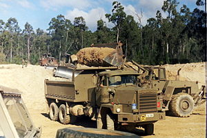 17th Construction Squadron (Australia) - Plant Troop on exercise winning road-base.