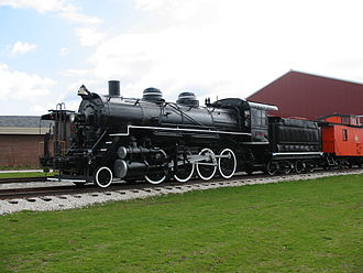 National Railroad Museum - US Army No. 101, a Consolidation Class 2-8-0 on display at the National Railroad Museum on April 26, 2004.  This locomotive was built for use in France during WWI but never made it there.  The original European style cab was replaced by an American style one.