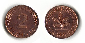 Deutsche Mark - 2 pfennig