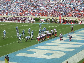 North Carolina Tar Heels - 2006 football team playing Virginia Tech