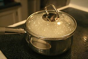 Boiling - Boiling water in a sealed cooking pot