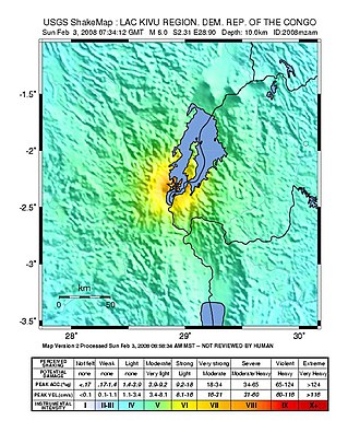 2008 Lake Kivu earthquake - Image: 2008 Lake Kivu earthquake