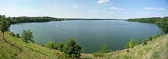 Lake Menomin - Lake Menomin from downtown Menomonie.