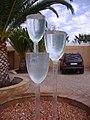 2009-11-16 Wine glass fountain, Adega do Cantor, Cliff Richard's vineyard, Guia, Albufeira (2).JPG