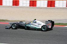 Photo de Nico Rosberg dans sa monoplace à Barcelone.