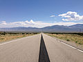 2014-08-09 11 29 03 View east on U.S. Routes 6 and 50 and south on U.S. Route 93 about 63.7 miles east of the Nye County line near Majors Place, Nevada.JPG