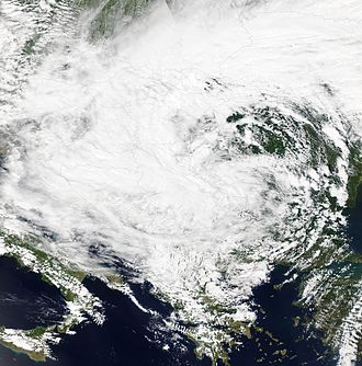 2014 Southeast Europe floods - The Yvette storm in Southeast Europe and Balkans, 15 May 2014