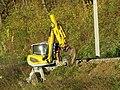 2018-10-30 (851) Walking excavator Menzi Muck M545 at Mariazellerbahn in Rabenstein an der Pielach, Austria.jpg