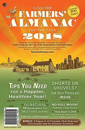 Farmers' Almanac - Cover of the 2018 Farmers' Almanac