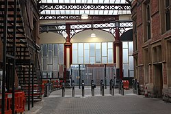 2018 at Bristol Temple Meads - ticket gate construction (1).JPG