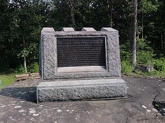 2nd Regiment Massachusetts Volunteer Infantry - Monument dedicated to the 2nd Massachusetts Infantry near Spangler's Spring on the Gettyburg Battlefield