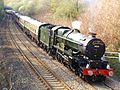 31 Loco 6024 King Edward I passing by Fredrick Place enroute to Neath Station 14th April 2007 (6378110073).jpg