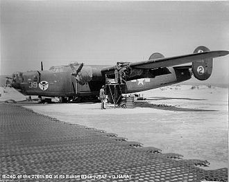 376th Expeditionary Operations Group - B-24 of the 376th Bomb Group, Italy, 1944
