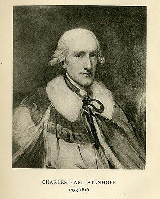 Charles Stanhope, 3rd Earl Stanhope - Lord Stanhope