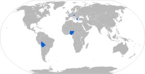 Saurer 4K 4FA - Map of 4K 4FA operators in blue