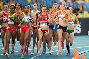 5000 metres at the World Championships in Athletics - Women competing in the 2013 final