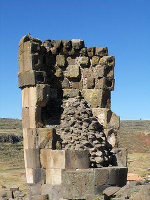 Chullpa - A chullpa at Sillustani, near Lake Titicaca, Peru.