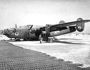 512th Rescue Squadron - Consolidated B-24J-30-CO Liberator 42-73278, parked at Enfidaville Airfield, Tunisia, October 1943.