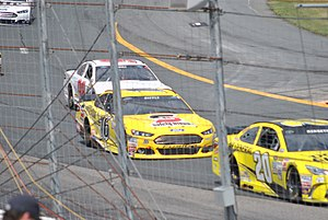 Greg Biffle - Biffle racing at New Hampshire Motor Speedway in 2015