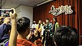 5 people standing on the stage with Demon Slayer cosplay clothing 20210321g.jpg