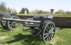 Canon de 75 mle GP III - In Belgrade military museum