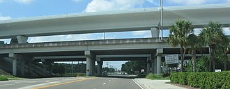 Lee Roy Selmon Expressway - The Lee Roy Selmon Expressway and the Reversible Express Lanes at 78th Street