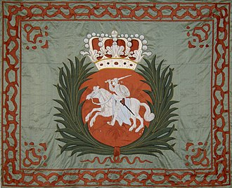 Königliche Fahne von August II. (Quelle: Wikimedia)