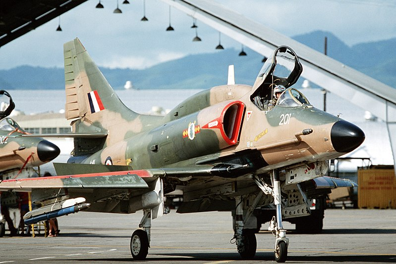 A-4K 75 Sqn RNZAF at Clark AB 1982.JPEG