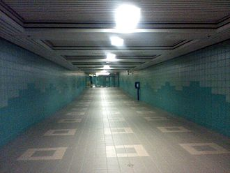 Edmonton Pedway - The pedestrian tunnel from Grandin station to the Alberta Legislature Building.