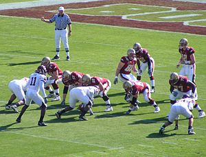Matt Ryan (American football) - Ryan and the Boston College Eagles line up on offense in the 2007 ACC Championship game