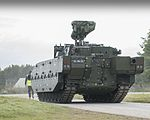 AJAX Armoured Vehicle at a 3 Div Combined Arms Manoeuvre Demonstration MOD 45161419.jpg
