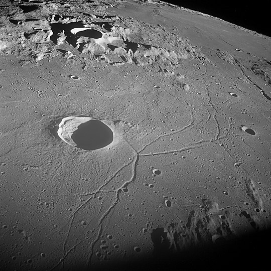 Triesnecker crater and Triesnecker rilles
