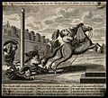 A Dutch quack doctor out of his depth on a spirited horse; i Wellcome V0010925.jpg