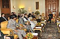 A Parliamentary delegation from Pakistan led by the Chairman of Pakistan Senate, Mr. Syed Nayyer Hussain Bokhari calling on the President, Shri Pranab Mukherjee, in New Delhi on December 07, 2012.jpg