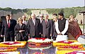 A Parliamentary delegation from Poland led by the Speaker of the Lower House of Polish Parliament, Mr. Jozef Oleksy paying homage at the Samadhi of Mahatma Gandhi at Rajghat in Delhi on December 9, 2004.jpg