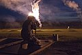 A U.S. Soldier prepares to fire on his lane for pop-up targets in the night fire event during the 2013 Army Reserve Best Warrior Competition at Fort McCoy, Wis 130626-A-YC962-262.jpg