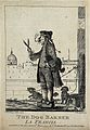 A dog barber holding a large pair of shears in one hand, a p Wellcome V0021888EL.jpg