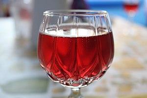 Lambrusco - A glass of Lambrusco