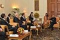 A parliamentary delegation led by the Chairman of State Duma, Federal Assembly of Russian Federation, Mr. Sergey Naryshkin calling on the President, Shri Pranab Mukherjee, at Rashtrapati Bhavan, in New Delhi.jpg