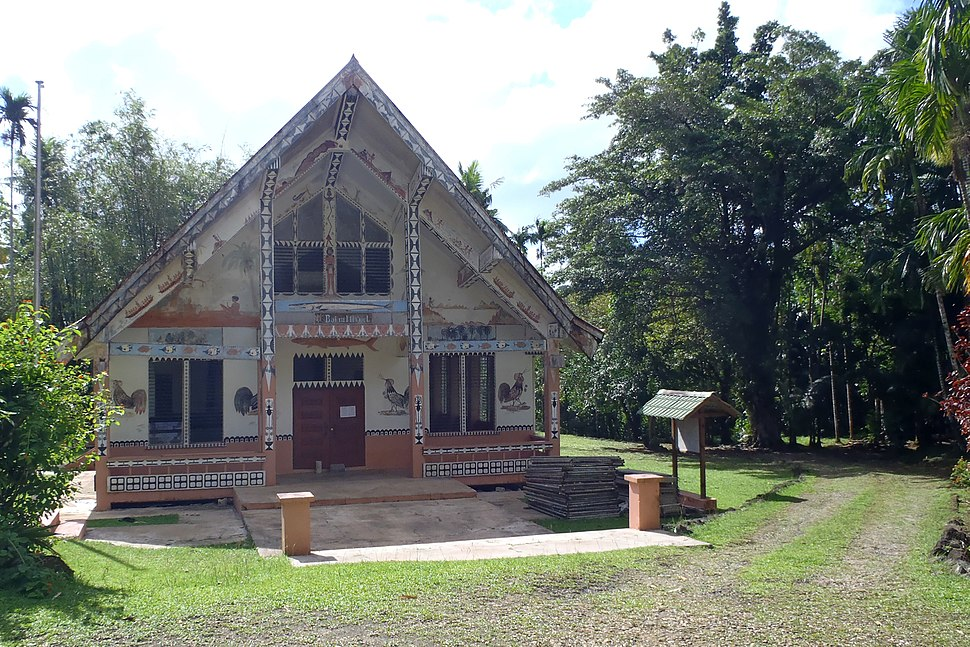 A traditional Palauan hut, 2012