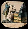 A woman at her dressing table in 1780 having her hair powder Wellcome V0019752.jpg