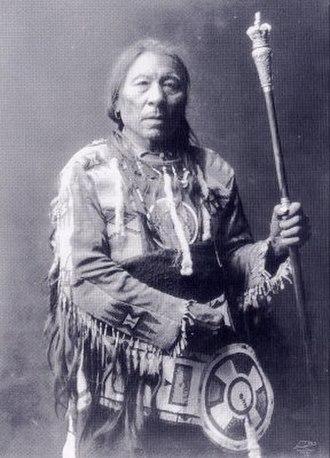 Blackfoot Confederacy - Chief Aatsista-Mahkan, c.1905.