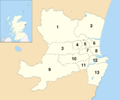 Aberdeen UK ward map 2017 numbered.png