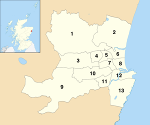 Aberdeen City Council - Current Aberdeen wards by number