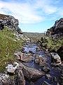 Abhainn Leireabhaigh flowing through a gorge - geograph.org.uk - 1347101.jpg