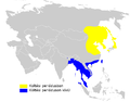 Acrocephalus bistrigiceps distribution map.png