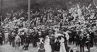 Charles Louisson - Addington grand stand in November 1903