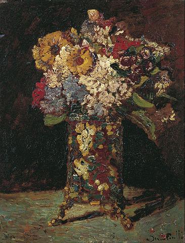 アドルフ・モンティセリ 『花瓶の花』